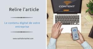 contenu digital entreprise